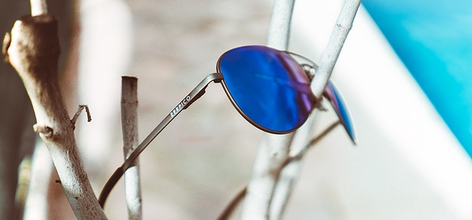 Our Titan sunglasses comes in 3 different colors of coating. Gun metal is one of them.
