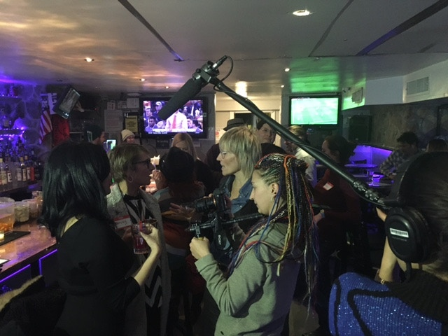 Filming at a recent #childfree event.