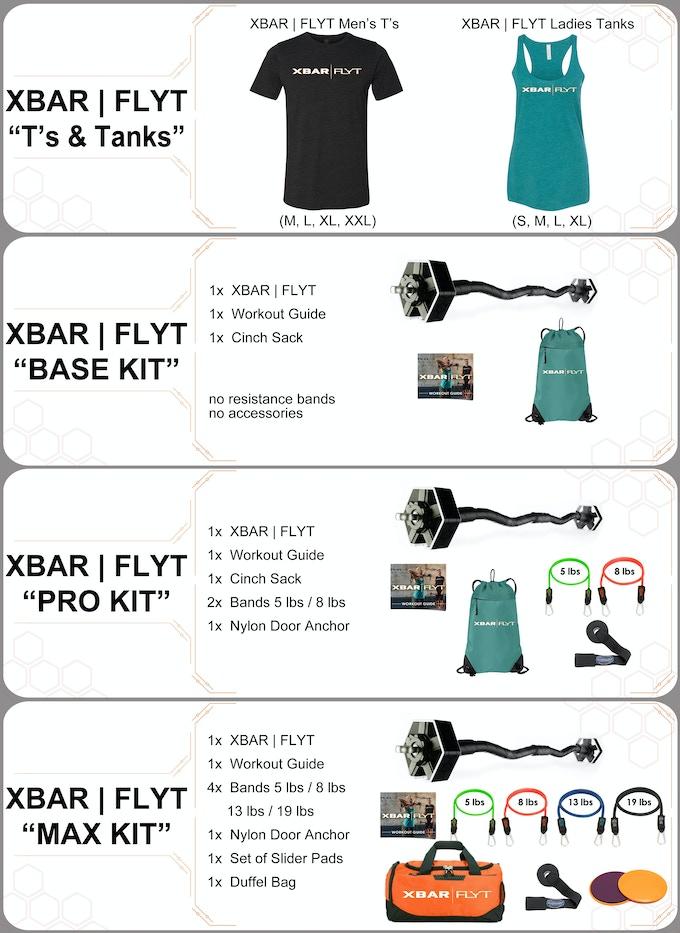 Xbar Flyt Travel Friendly Personal Fitness System