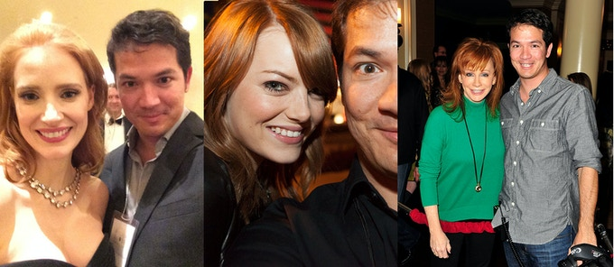 Myself with Jessica Chastain, Emma Stone and Reba McEntire