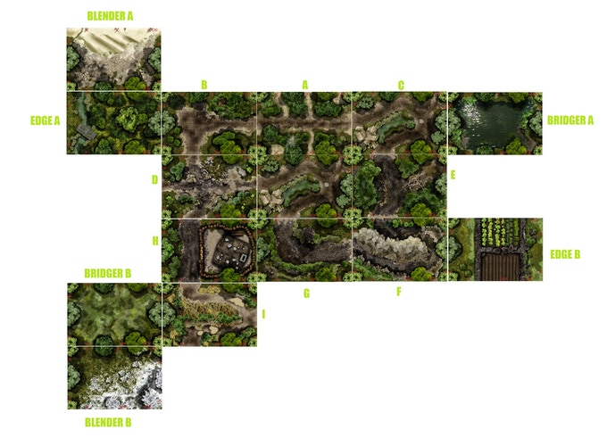 Core Forestry Road Maps shown with Sample Extras from the Supercore Set
