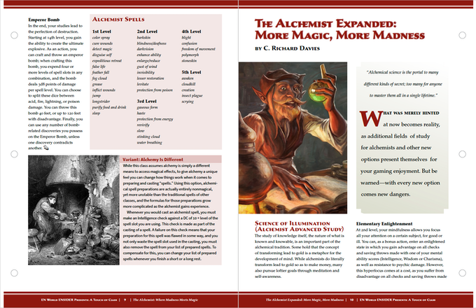 A Touch of Class: 7 New Classes for 5th Edition by Morrus
