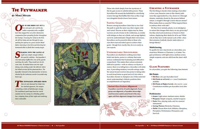 A Touch of Class: 7 New Classes for 5th Edition by Morrus — Kickstarter