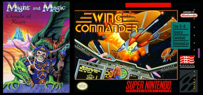 Might and Magic, Wing Commander covers