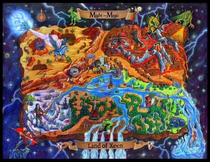 Land of Xeen map