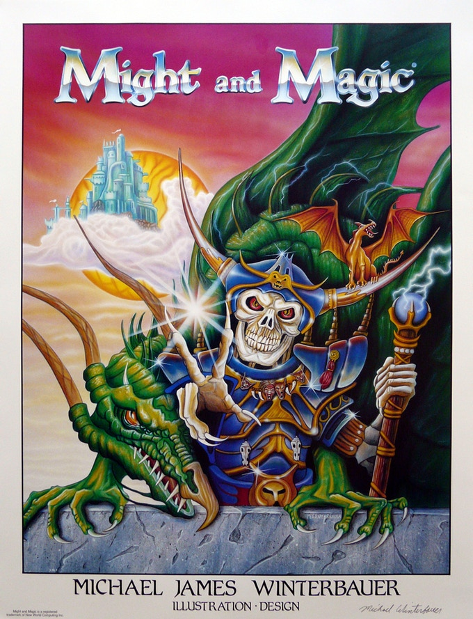 Might and Magic poster 1992