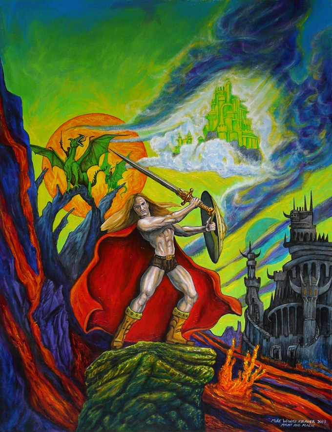 Might and Magic painting