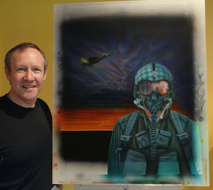 Fighter Pilot painting