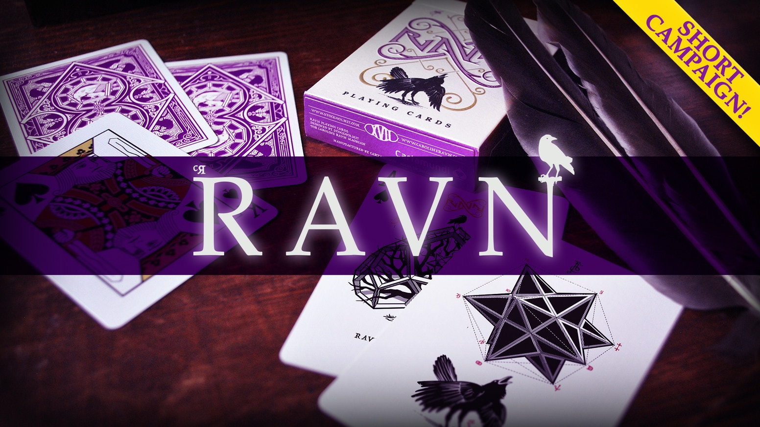 Ravn playing cards are back, in purple! Perfect for card tricks, cardistry, and poker. Printed with cardistry finish by Cartamundi.