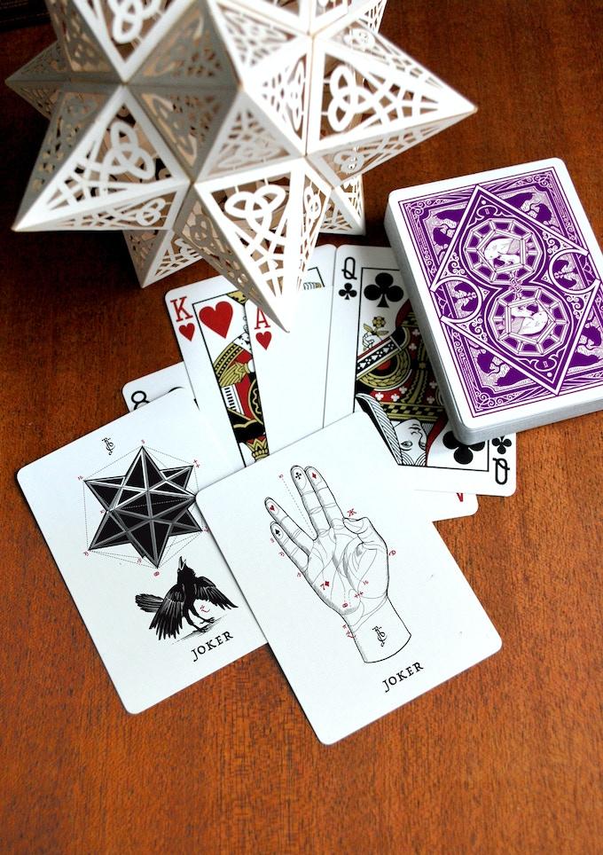 ravn playing cards  purple hazeravn magic — kickstarter
