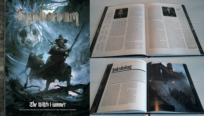 The images to the right are from the Swedish edition of Karvosti - The Witch Hammer, launched about 6 months ago