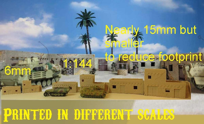 Files free scalable, depends on your printer. Printed with I3 system. 0,2mm layer Shown with Dragon CanDo 1:144 tank Models