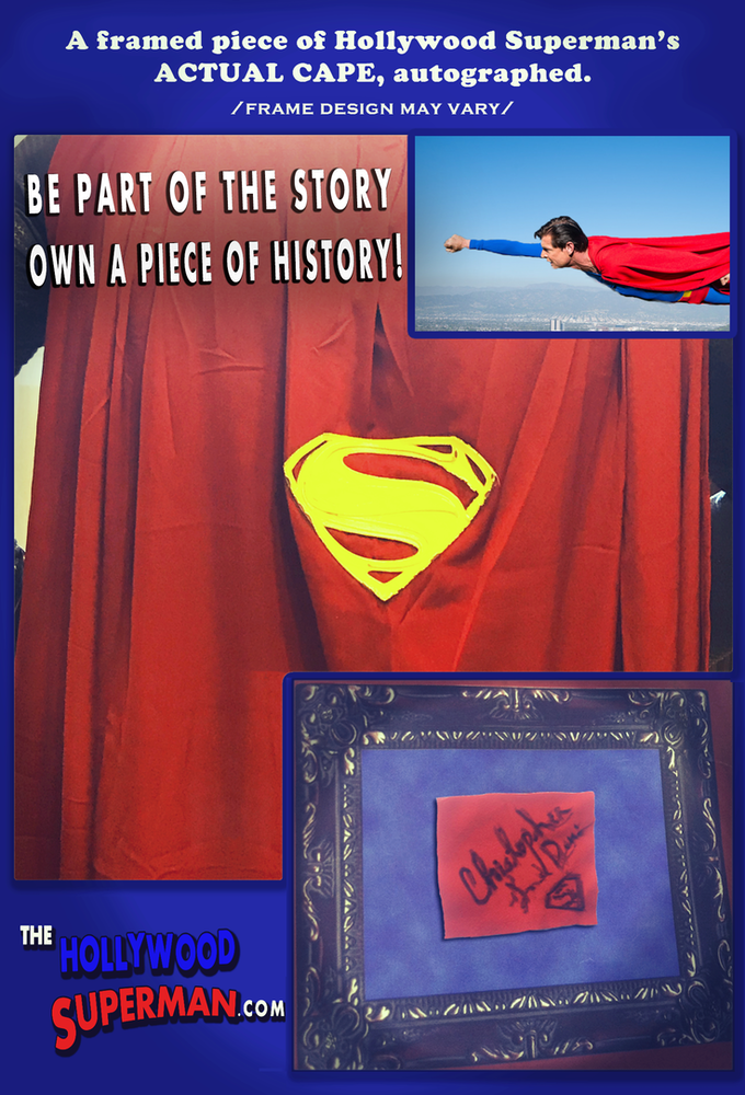 Own a piece of the Hollywood Superman's cape