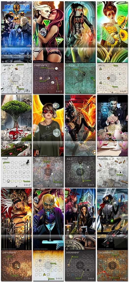 Echo Chernik 2018 Calendars by Lazarus Chernik —Kickstarter