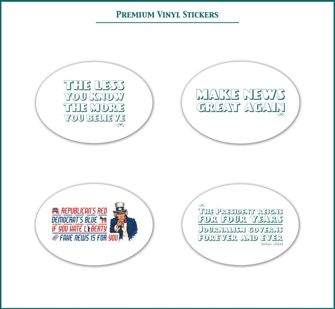 News-Themed Vinyl Stickers