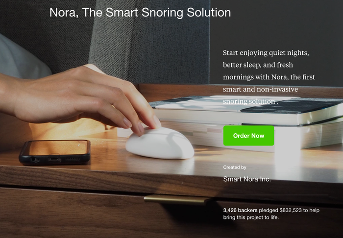 """The """"Order Now"""" button links to Nora's Shopify page"""
