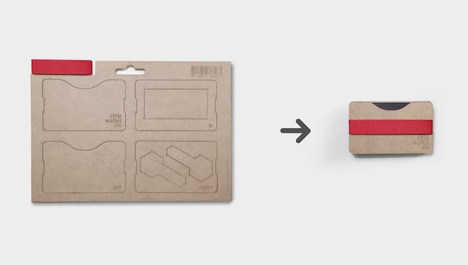 Arrives flat transform to a slim wallet