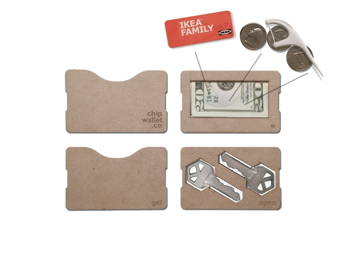 Cash plate fits coins, mini-cards & small flat items