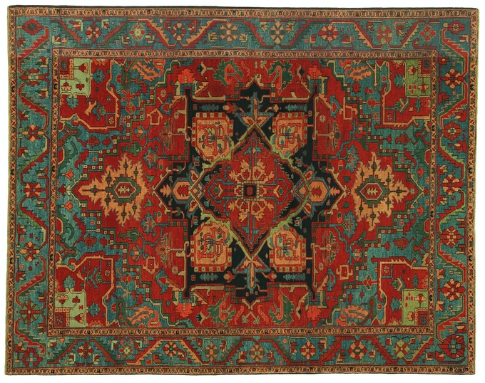 Hertz 8x10––Woven in Adiyaman Camp, this rug employed one refugee for over 8 months and contains nearly 650,000 knots