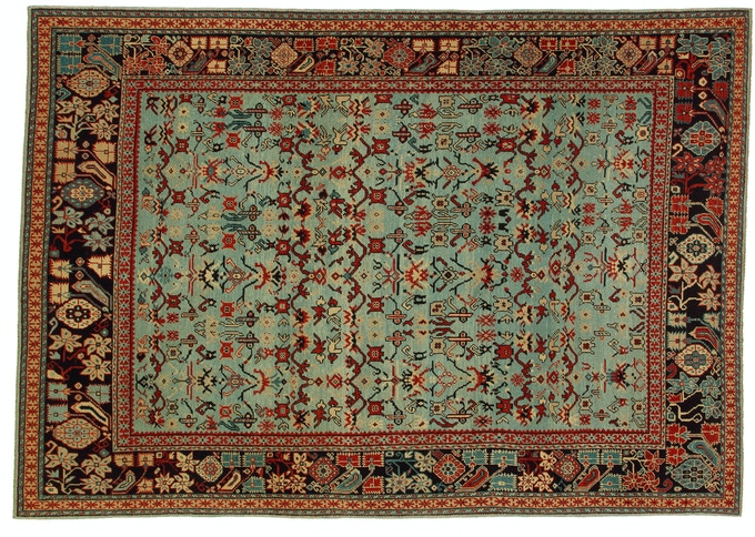 The twin of this rug is on permanent display in a famous NYC Museum