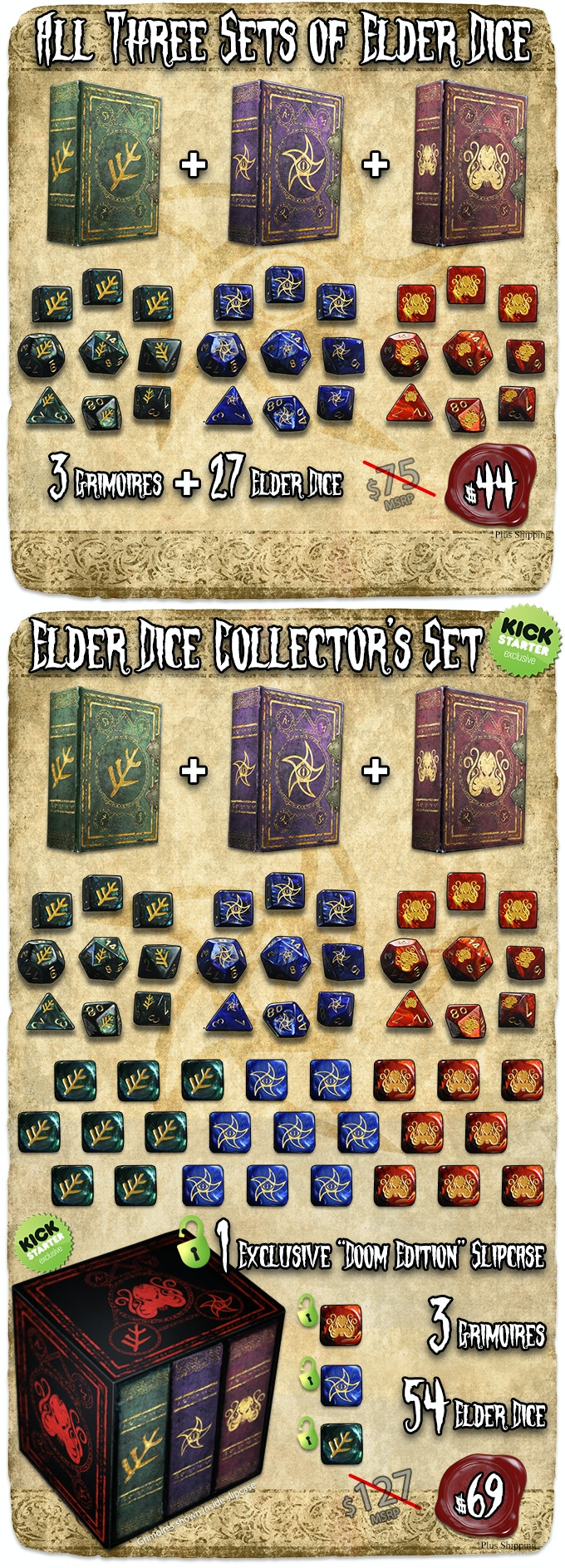 Elder Dice - prototypes and visualizations