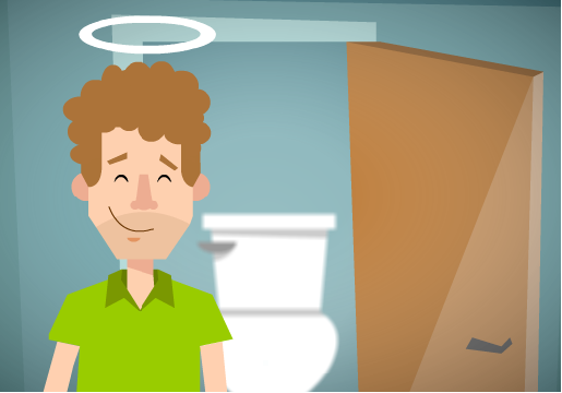 A clean toilet and fundraising - a good feeling!