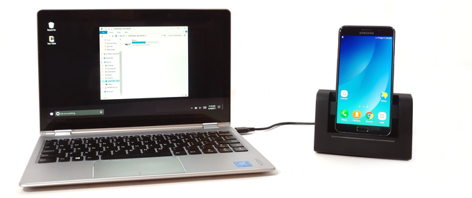 The AutoDock is efficient enough to run off a standard PC USB port and supports data transfer
