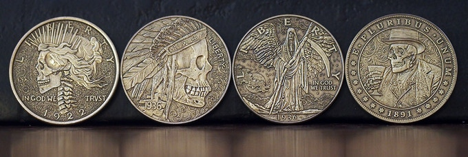 Antique Brass Plated Steel Stretch Goal Coins