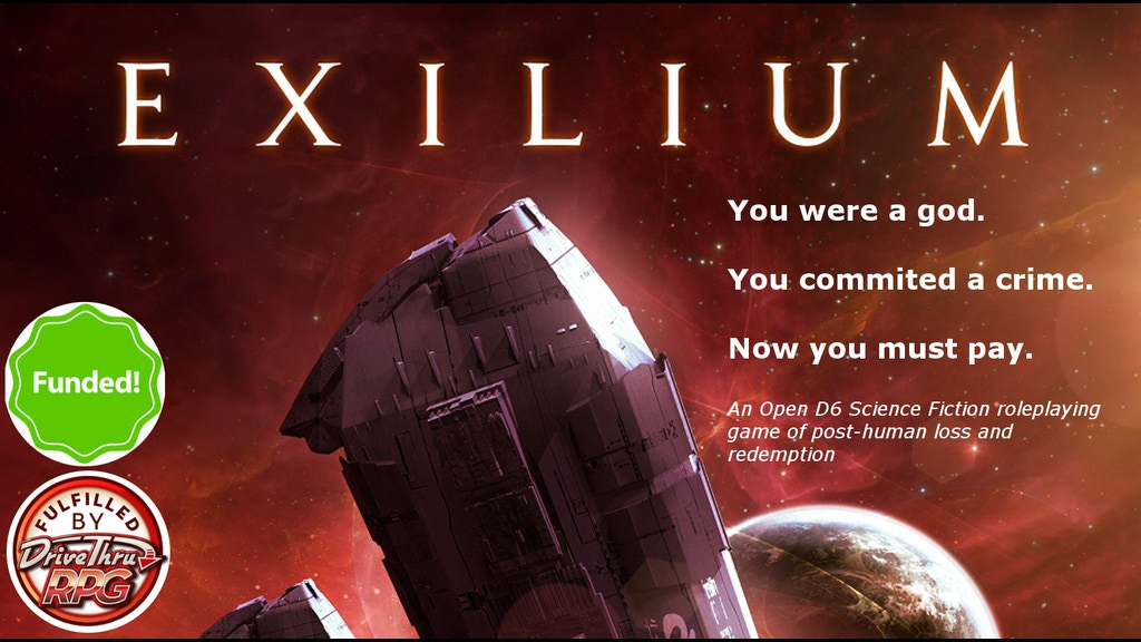 Exilium - a Science Fiction RPG of Post-human Redemption project video thumbnail