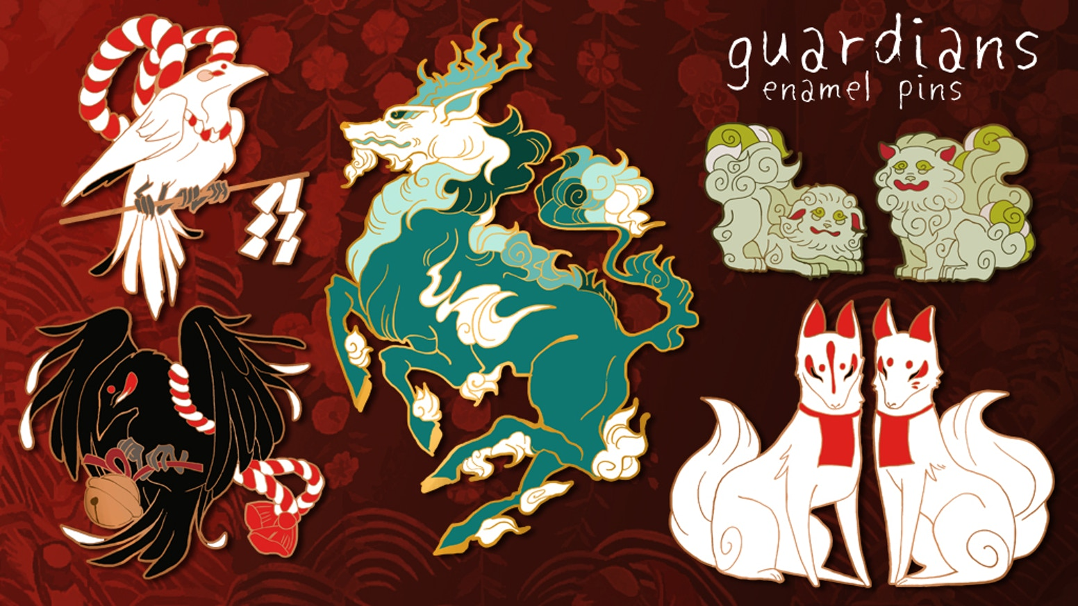 Little guardian pins from Shinto and Buddhist beliefs and folklore