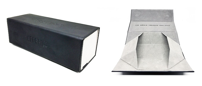 All of our Titan sunglasses comes in an exclusive foldable PU leather box.