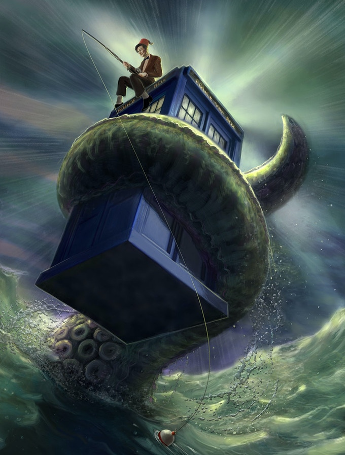 Fishing with the Doctor by Lee Moyer