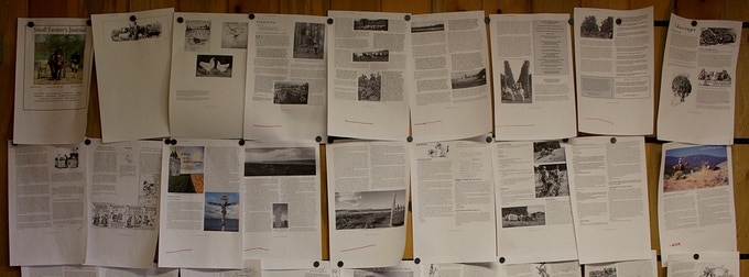 160th edition of Small Farmer's Journal waiting patiently on the layout wall
