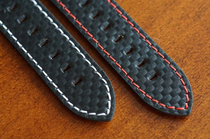 Choice of white or red stitching
