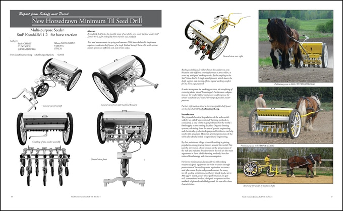 New innovations in farming are featured in most every issue of Small Farmer's Journal