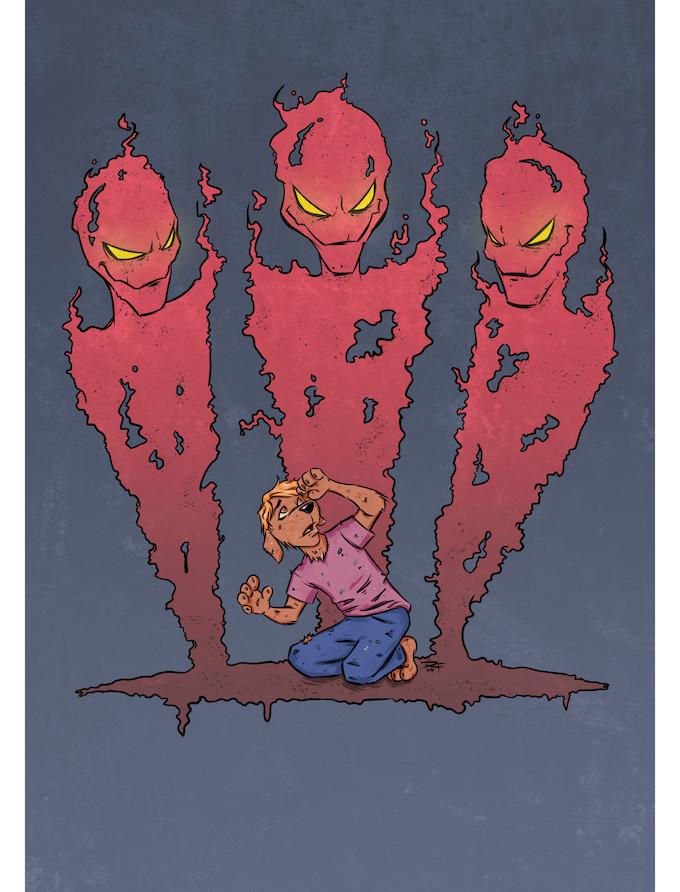 """Monsters"" - art by Ryan Foust"