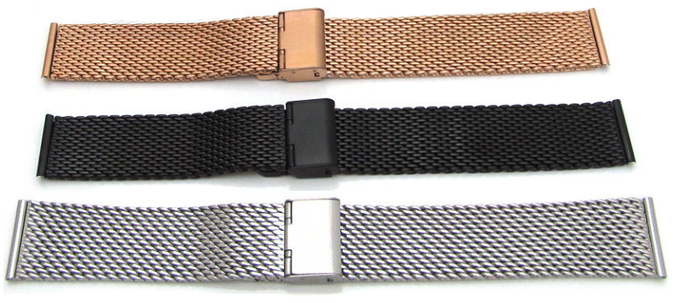 """Milanese """"Mesh"""" Bracelets with Quick Release Pin"""