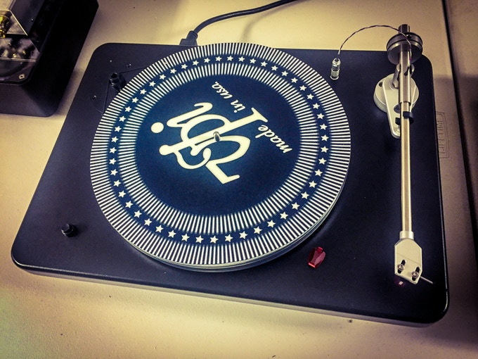 A prototype of the new VPI player turntable. You could have one of the first ten.