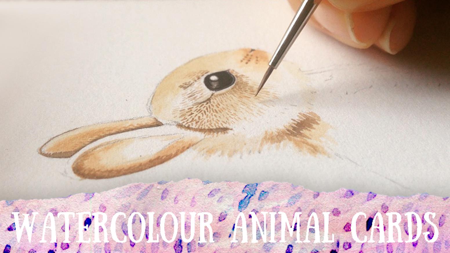 Watercolour Animal Greeting Cards By Tinystuffz Kickstarter