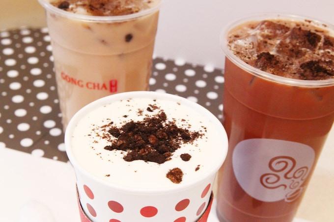 oreo bubble tea from Gong Cha