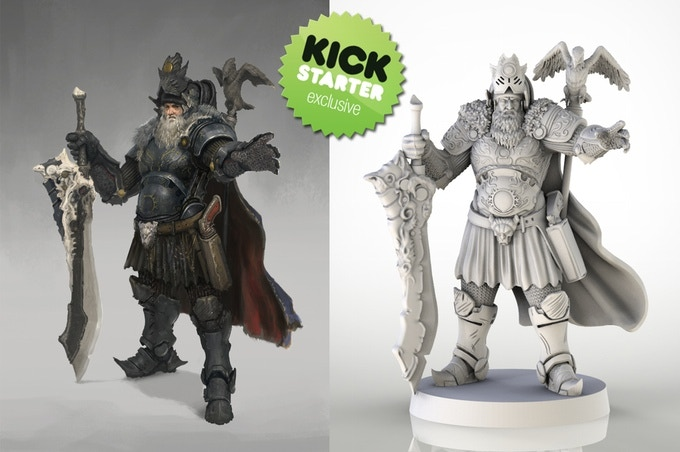 Kickstarter Exclusive! Grimlord Town Hero!