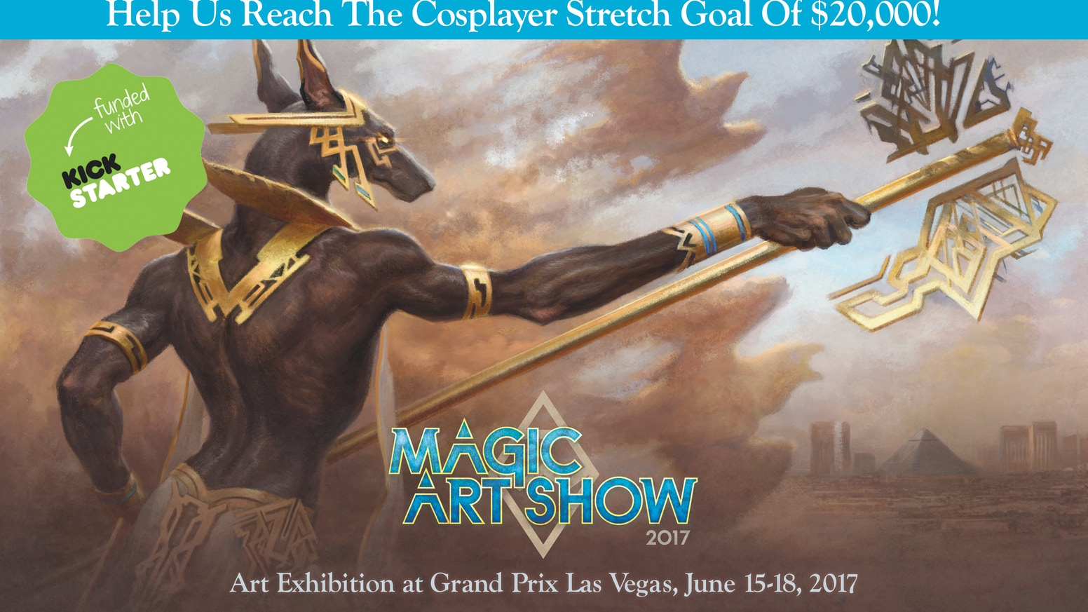 Support the world's largest exhibition of Magic: the Gathering artwork ever created to be hosted at GP Vegas 2017 on June 14-18