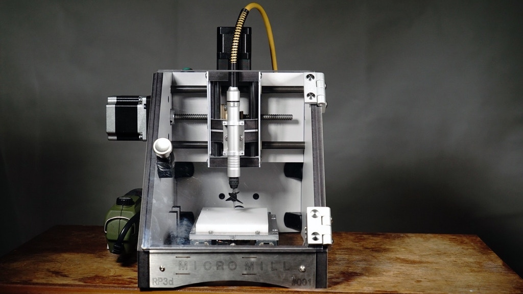 The MicroMill - A desktop CNC milling machine. project video thumbnail