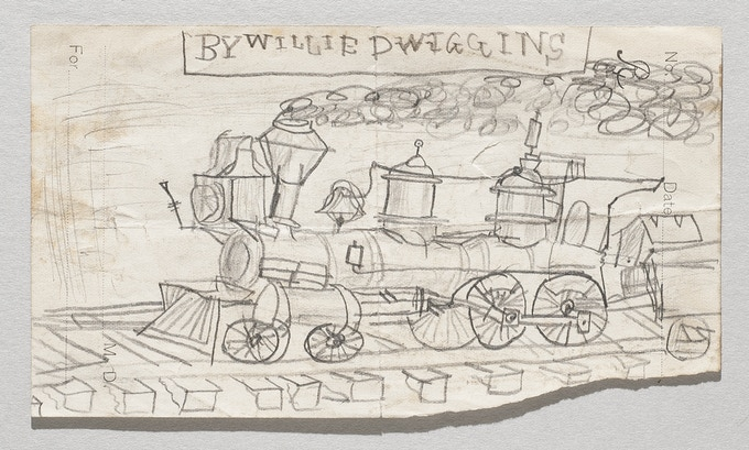 W. A. Dwiggins, childhood drawing, late 1880s