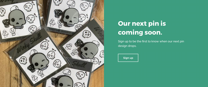 Use your Shopify landing page to get people excited about your campaign before you launch