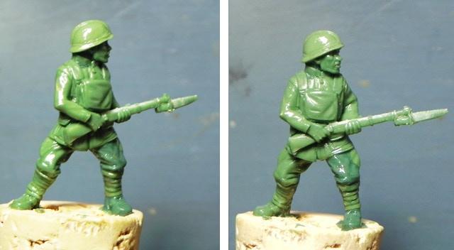 Sculpt by James Van Schaik of 28mm Harlem Hellfighter Collectable Miniature
