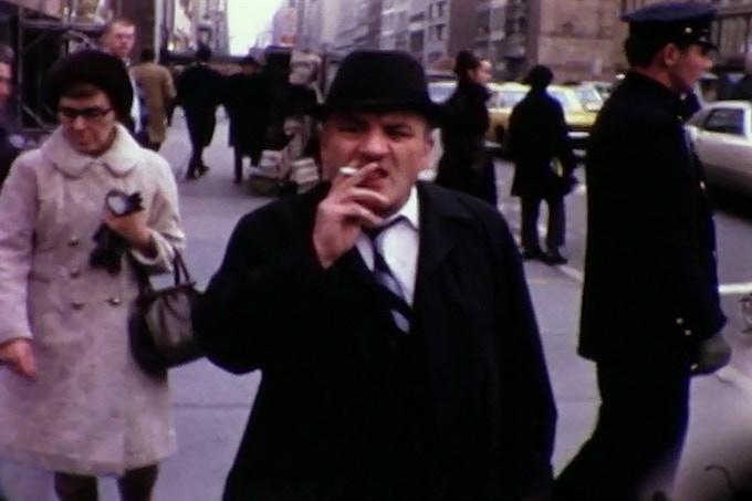 Still from Winogrand 8mm film, NYC, 1968