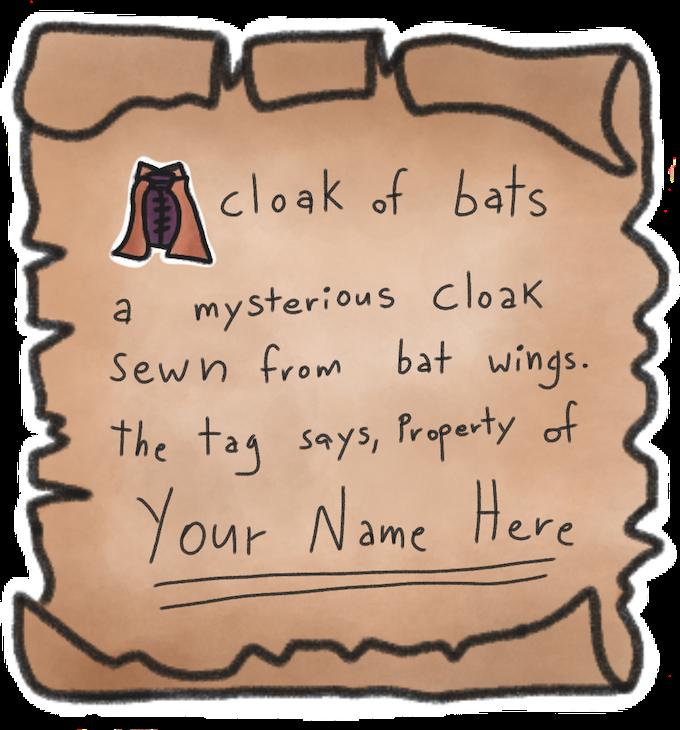 Bag +4 reward. Create your own item.