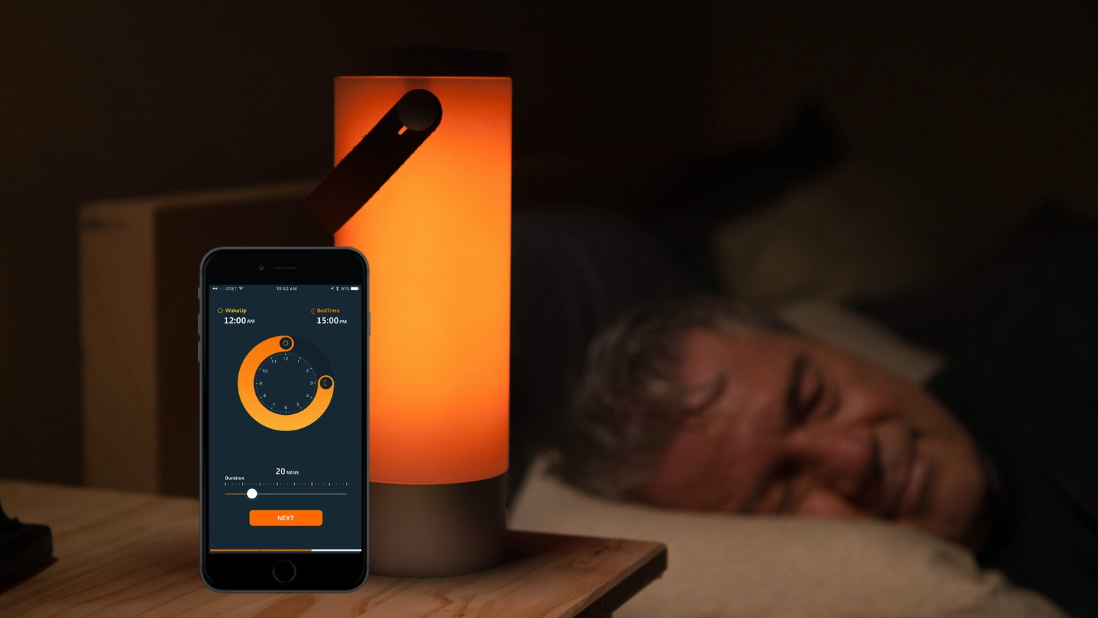 A 16 million color customizable smart light that transforms how you sleep and wake up. Built-in speaker, app control, works with Alexa.