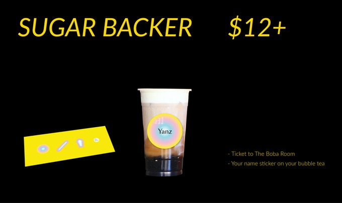 (1) Ticket to The Boba Room (2) Your name sticker on your bubble tea